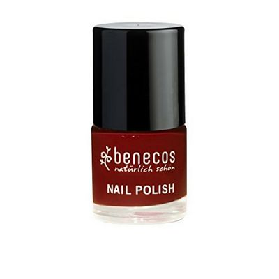 Esmalte de uñas Benecos, color Cherry red